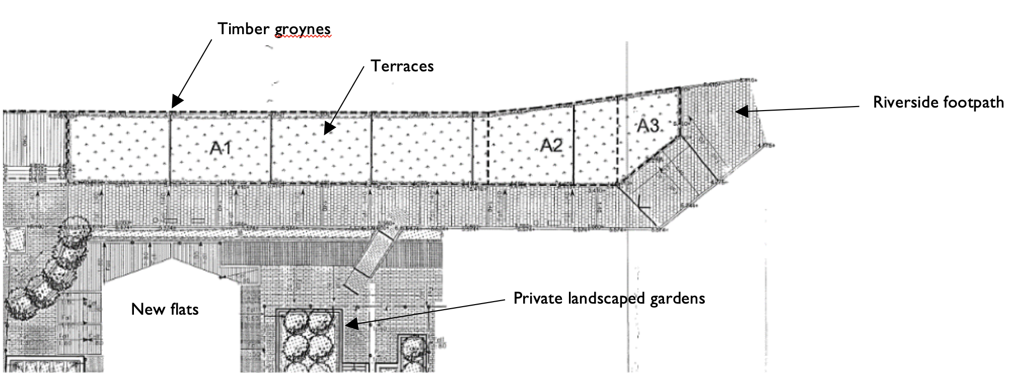 Plan view from as built drawings